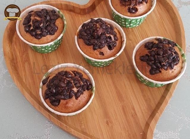 Yumurtasız Damla Çikolatalı Muffin Kekler