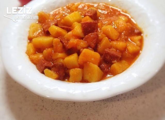 Sucuklu Patates Yemeği