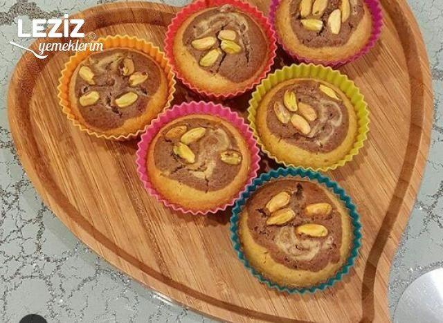 Kakaolu Antep Fıstıklı Muffin Kekler