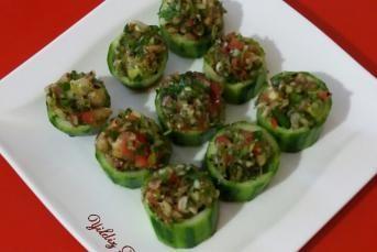 Salatalık Çanağında Ezme Salata