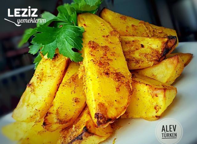 Pratik Harika Soslu Fırında Patates Dilimi