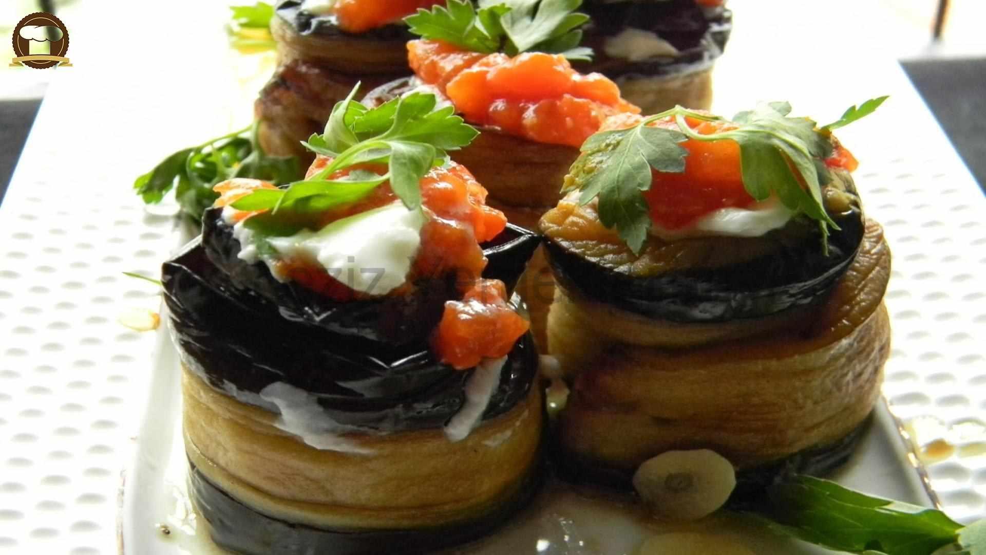 Patlıcan Ruloları (zeytinyağlı) Tarifi