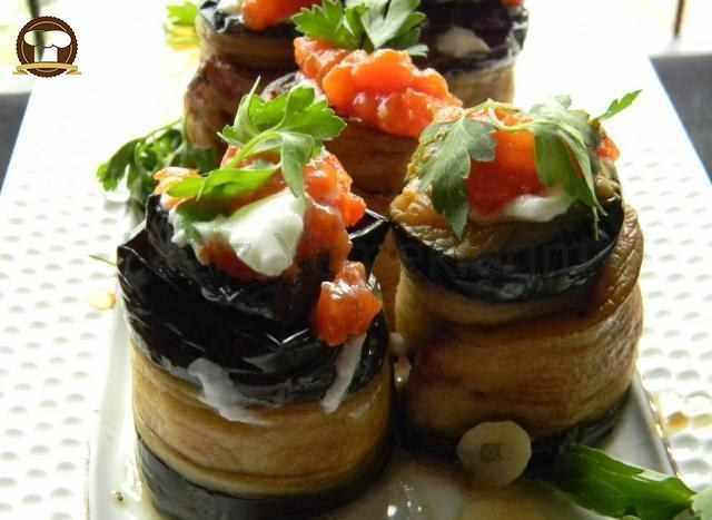 Zeytinyağlı Patlıcan Ruloları