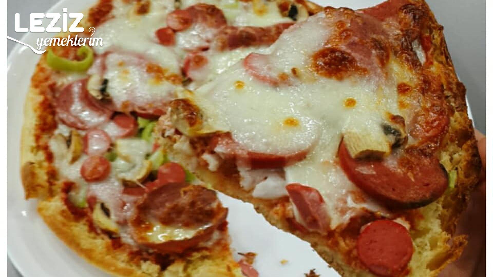 Evde 5 Dakikada Pizza Tarifi