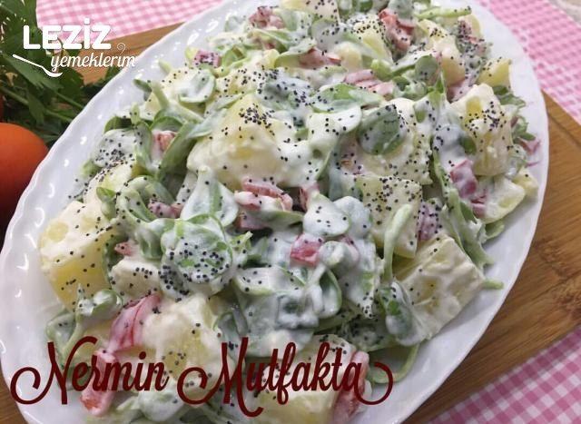 Patatesli Semizotu Salatası (Çok Lezzetli)