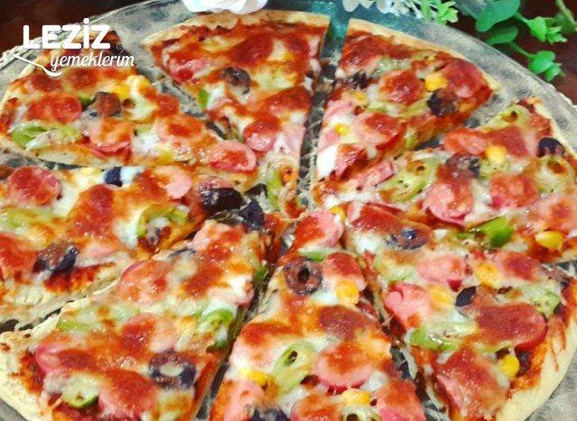Çok Pratik Bazlamadan Pizza