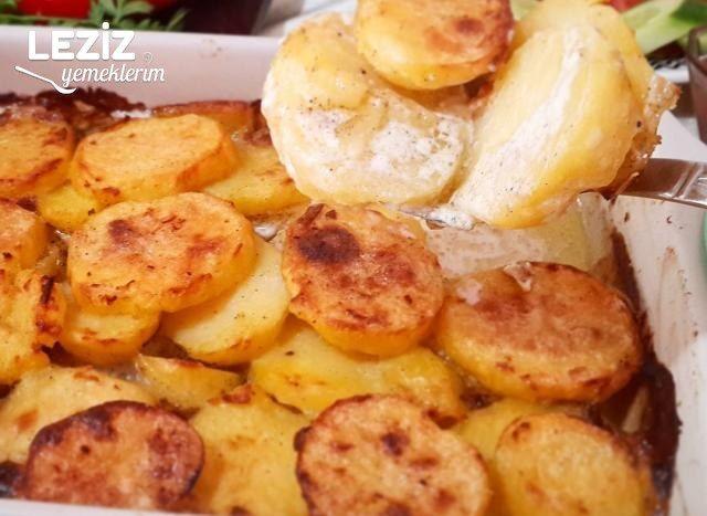 Fırında Kremalı Patates
