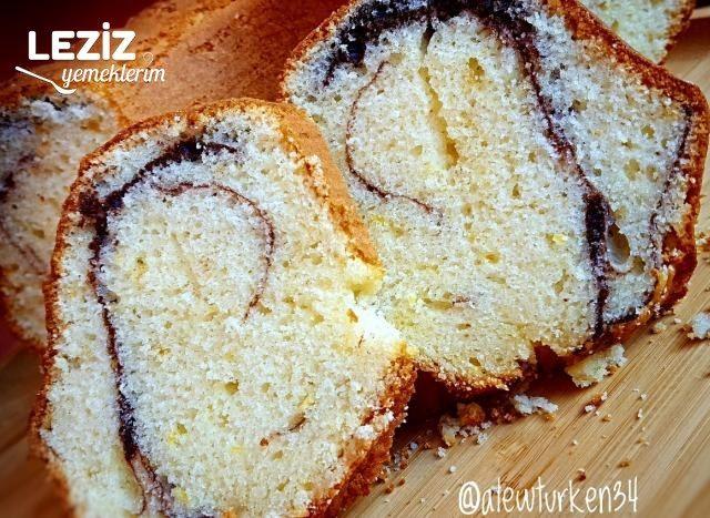 Bol Limonlu Ve Kakao Çizgili Kek (Pofuduk Kek)