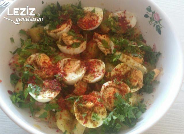 Patatesli Yumurta Salatası