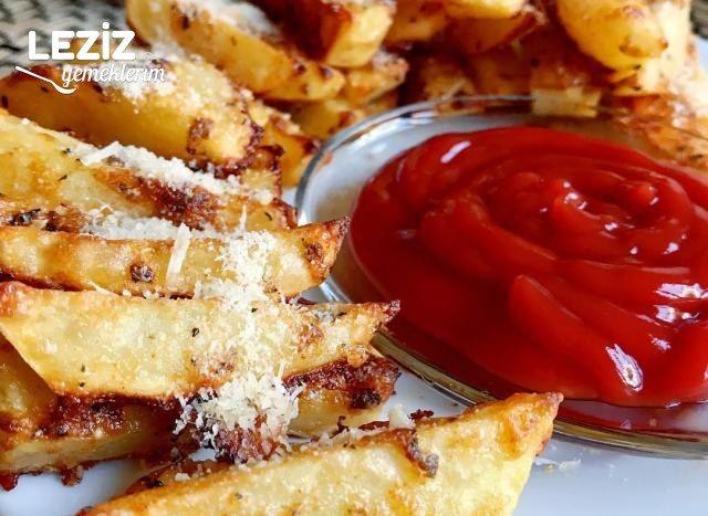 Parmesan Peynirli Çıtır Patates Dilimleri