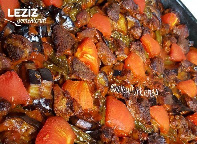 Fırında Etli Patlıcan Yemeği (Kızartarak)