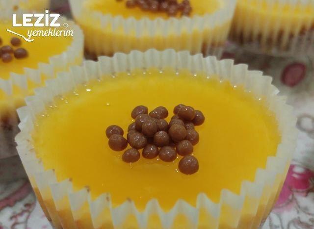 Muffin Kalıbında Mandalinalı Cheesecake