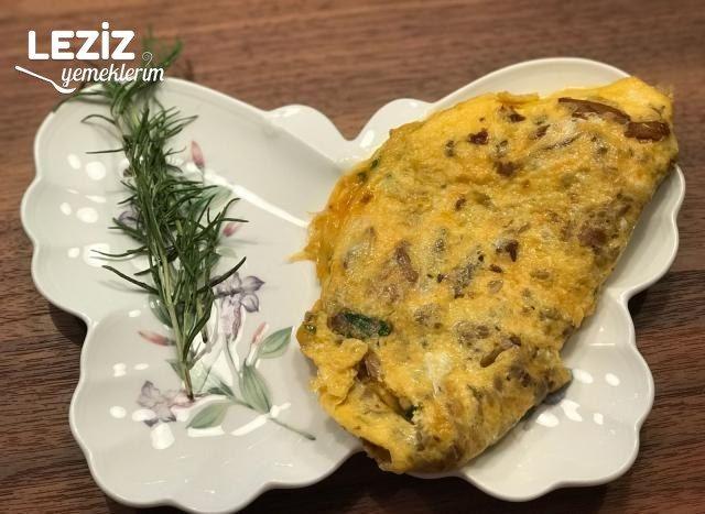 İstridye Mantarlı Parmesanlı Omlet