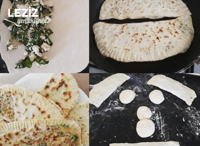 Peynirili Ispanaklı Gözleme Börek