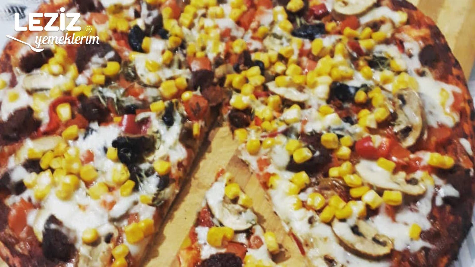 5 dakkada pizza nasıl yapılır – Kahvaltılık nefis bazlama pizza tarifi – Kahvaltılık tarifler