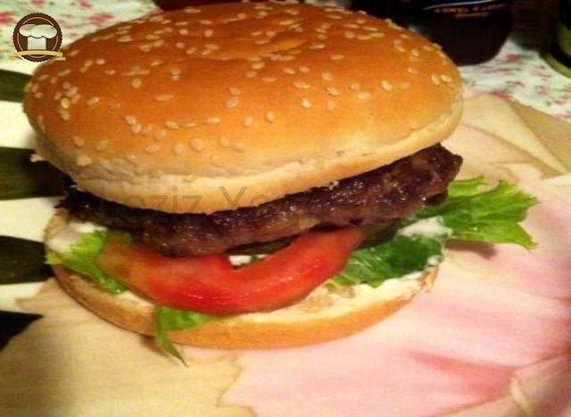 Ev Yapımı Hamburger Yapılışı