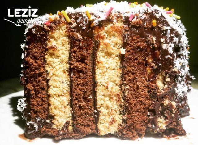 İki Renkli Kolay Pasta