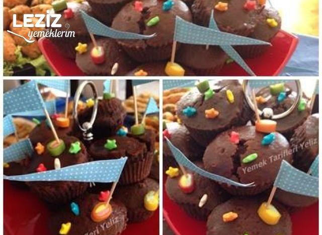 Kakaolu Damla Çikolatalı Muffinler