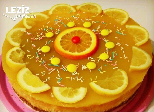 Portakallı Limonlu Cheesecake