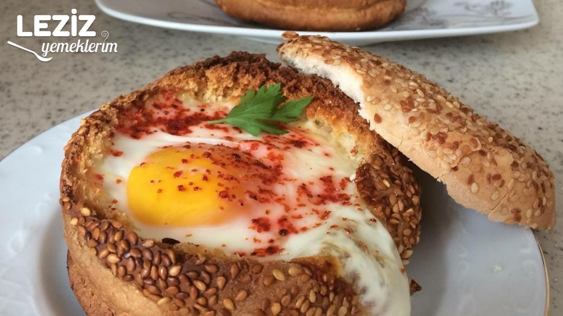Hamburger Ekmeğinde Yumurta Tarifi
