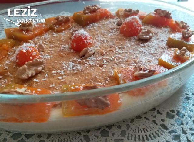 Kremalı Bisküvili Kabak Tatlısı