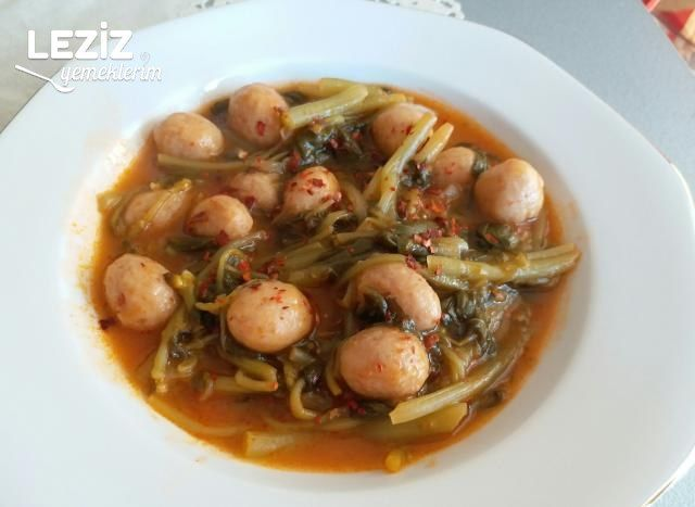 Bulgur Köfteli Semizotu Yemeği